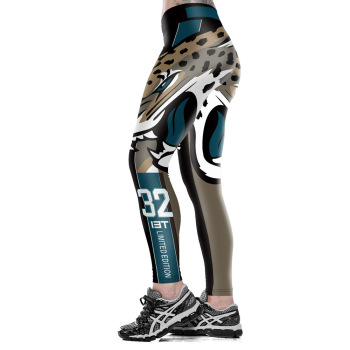 Unisex Football Team Jaguars 32 Print Tight Pants Workout Gym Training Running Yoga Sport Fitness Exercise Leggings Dropshipping