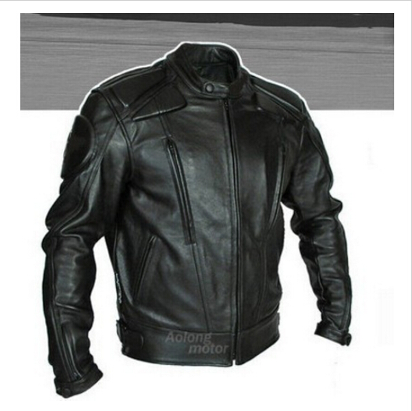 Wholesale Professional motorcycle racing riding jacket PU Leather motocross jacket with 5pcs Protective gear size S