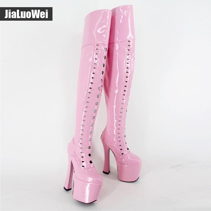 718c92b42bf5 ... Jialuowei Design 8 inch Extreme high heel Sexy fetish Over The Knee  Thigh High Heel Platform ...