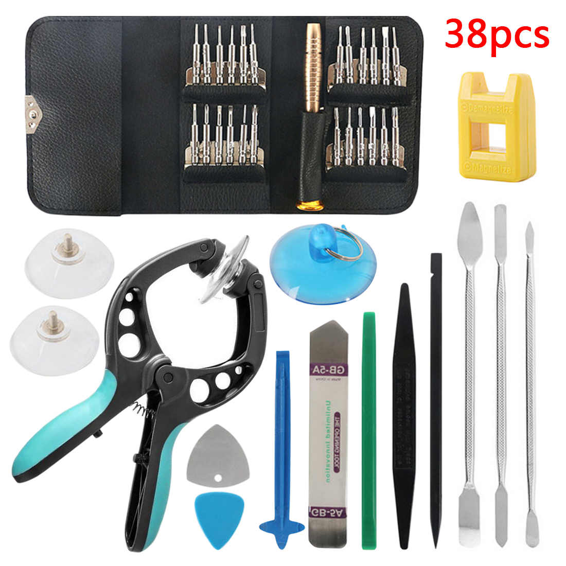 38 In 1 Smart Cell Mobile Phone Opening Pry Repair Tool  Screen Opening Pliers Kit Screwdrivers Set For IPhone For Samsung IPad