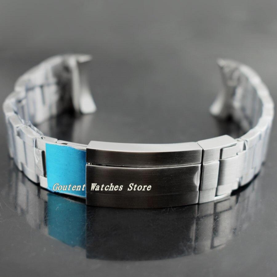 Saatler'ten Saat kayışları'de 21mm Bliger 316L Katı Bilezik Paslanmaz Çelik Kayış Kordonlu Saat Kiti 43mm Saat'da  Grup 1