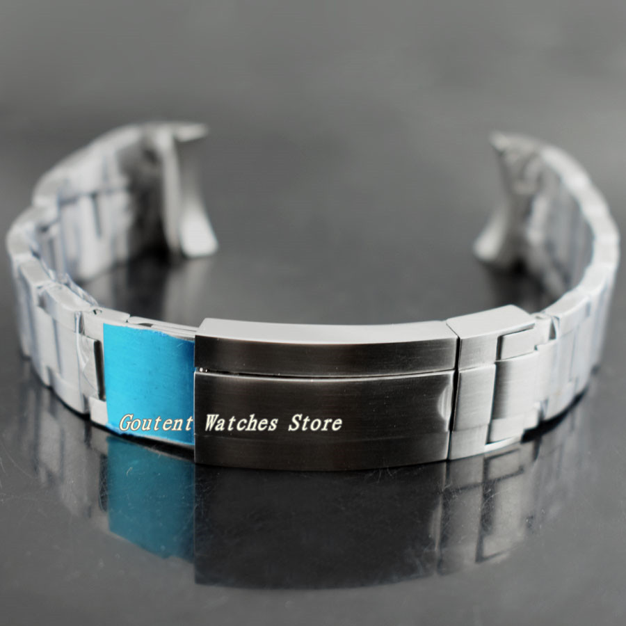 21mm Bliger 316L sólido pulsera Acero inoxidable Correa reloj Kit 43mm reloj-in Correas de reloj from Relojes de pulsera    1