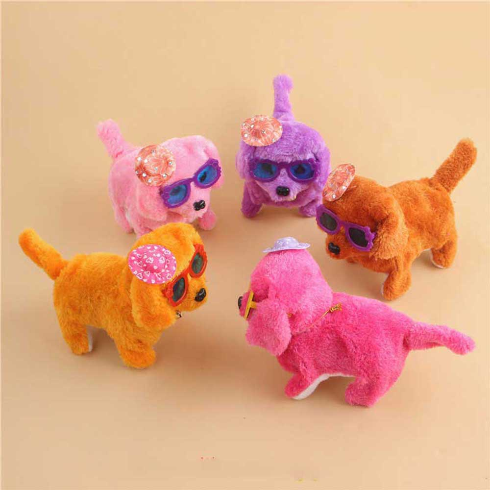 Electronic Dog Pet Cute Robot Puppy Walk Bark Dog Electric Teddy Pets Kids Gift Plush Pet Dog Toys For Children Birthday Gifts