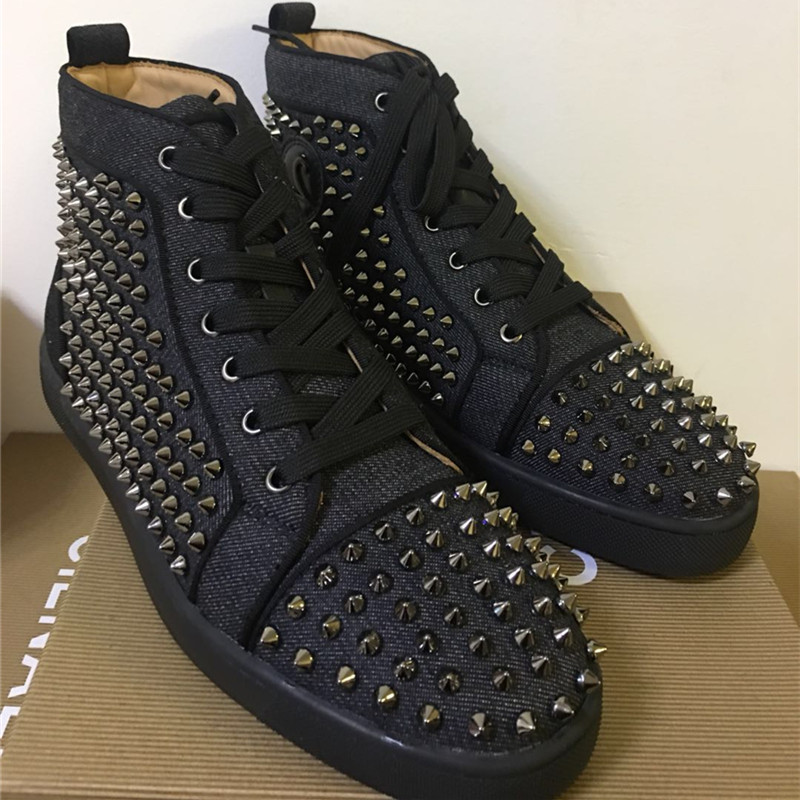 FNJACK Fashion Sneaker Louis Spikes Flat High-Top Mens Fashion - Herenschoenen - Foto 2