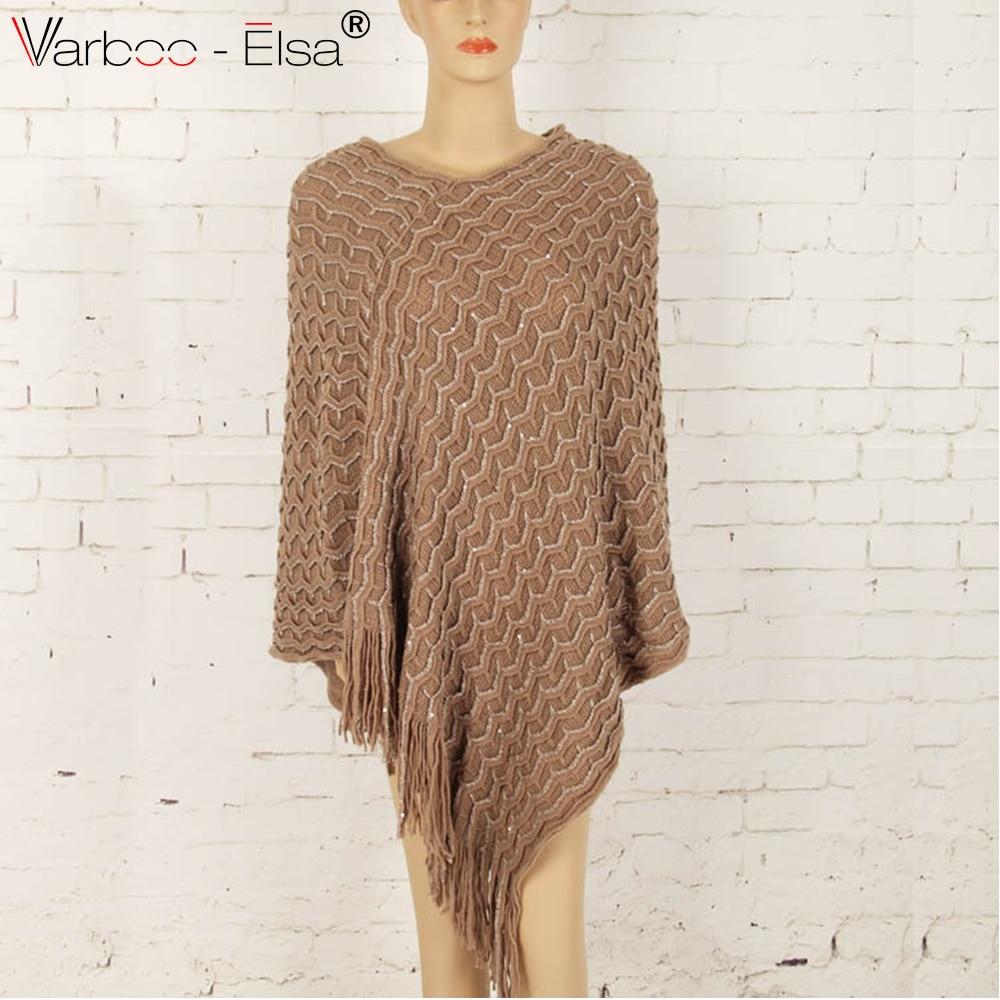 VARBOO_ELSA fashion sequin women Shawl 2017 autumn winter knitted ...