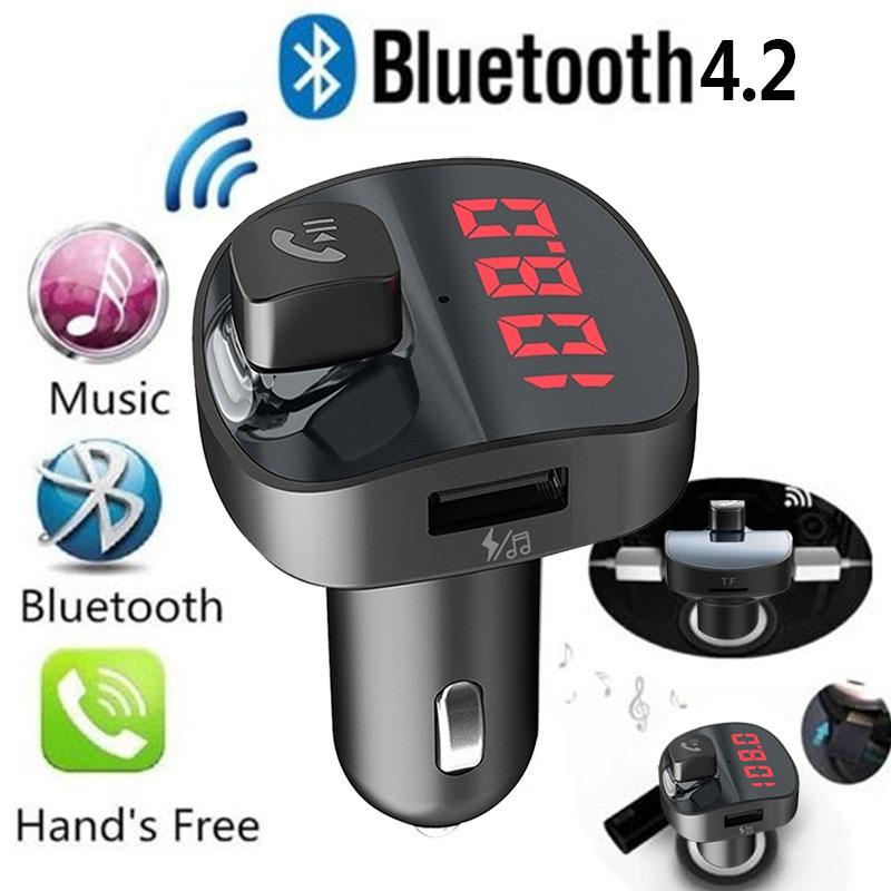 Автомобильный FM передатчик, bluetooth-ресивер fm-адаптер fm-передатчик автомобильный комплект Автомобильное зарядное устройство портативная Громкая связь AUX Стерео