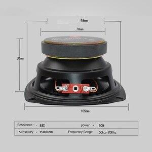 """Image 2 - 8 ohm 50W czysty Głośnik basowy 4 cal głośniki pełny zakres 8R Audio 105mm głośnik róg 4"""" trąbka DIY 8ohm"""