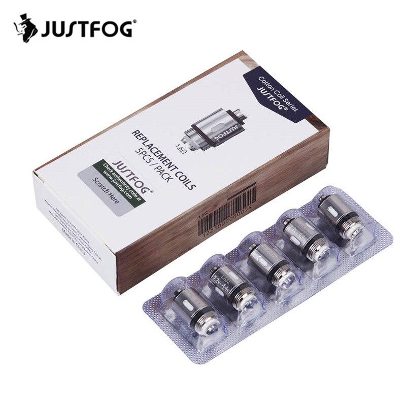 Original JUSTFOG Vape noyau de tête de bobine 1.2ohm 1.6ohm remplacement pour JUSTFOG C14 Q14 Q16 P16A atomiseur de Kit de Cigarette électronique