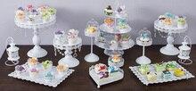 12 teile/satz Weiße Hochzeitstorte Stehen Metall Cupcake Display Party Requisiten