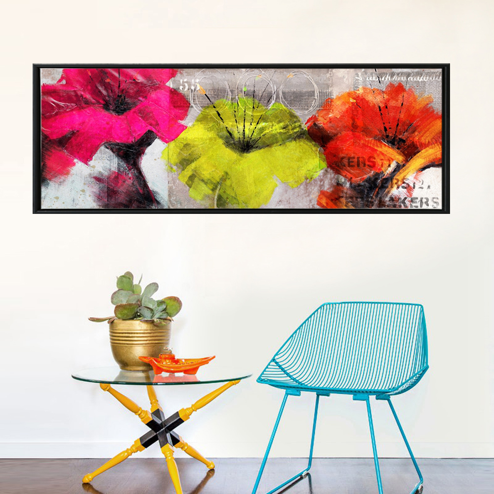 Colorful Flower Oil Paintings Print On Canvas Horizontal ...