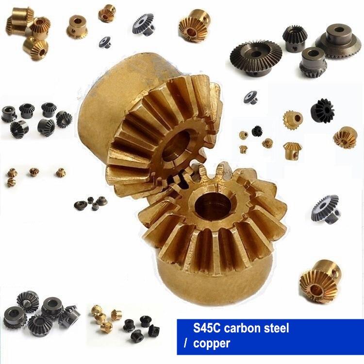 1 Pcs Bevel Getriebe 0,4 M 0,5 M 0,8 M 1 M Getriebe 90 Grad Übertragung Getriebe Diy Kupfer/ Stahl/edelstahl Clear-Cut-Textur