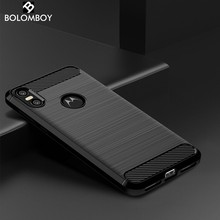 Bolomboy Carbon Fiber Case For Moto One Case For Moto P30 G7 Z3 Z2 G4 G6 G5 G5S E5 E3 E4 C Z Plus Play Force P40 X4 Cover(China)