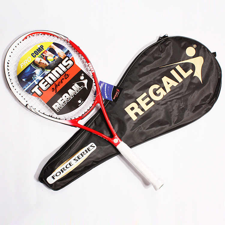 1pcs Red blue black 68.5cm*27cm carbon fiber and gold wire line one body tennis racket Tennis rackets for training matches