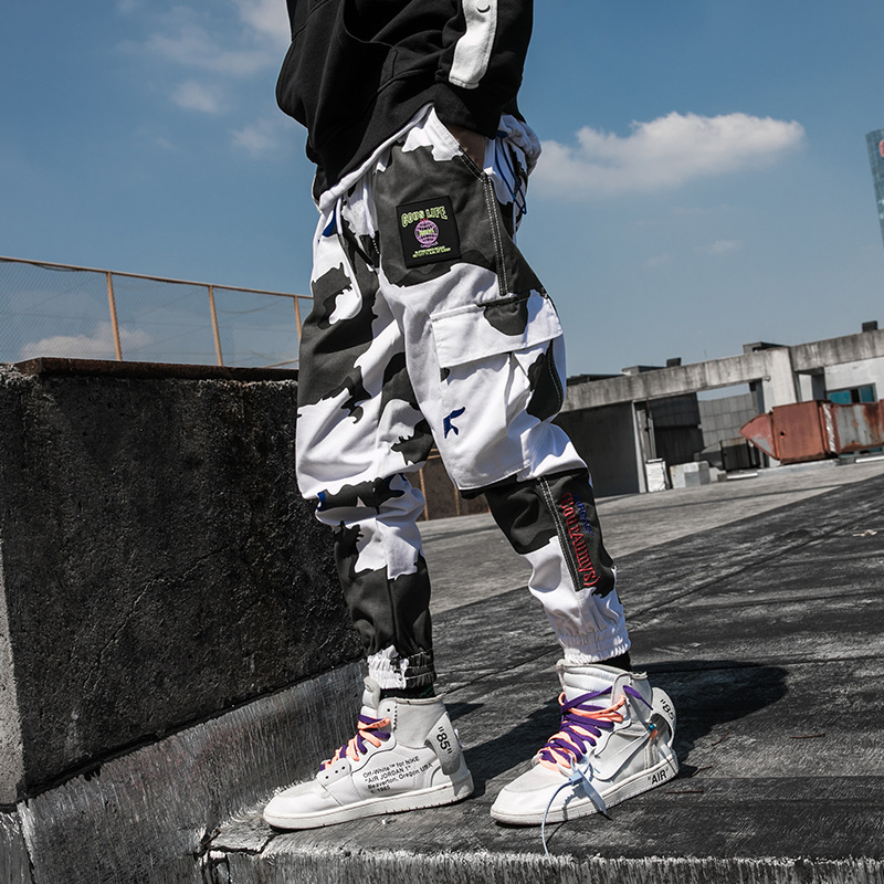 Cool Man Jogger Camouflage Side Pockets Loose Style Men's Sweatpants Fashion 2019 High Street Casual Pants Mens Streetwear Pants(China)