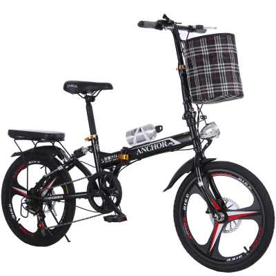 New Soft Tail Bike 20 Inch Wheel 6 Speed Carbon Steel Disc Brake Folding Bike Lady Children Bicicletas MBX Bicycle