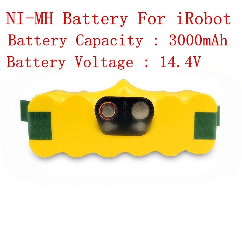14.4V 3000mAh Ni-MH Rechargeable Battery  for iRobot Roomba 500 510 520 530 540 550 560 570 580 vacuum cleaner parts 1 piece robot hepa filter replacement for irobot roomba 500 series 520 530 540 550 560 vacuum cleaner parts