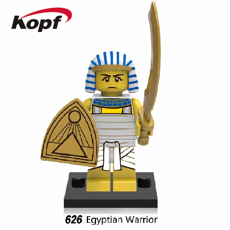 Single Sale Super Heroes Star Wars Egyptian Warrior Pharaoh Barbarian Model Building Blocks Collection Toys for children XH 626