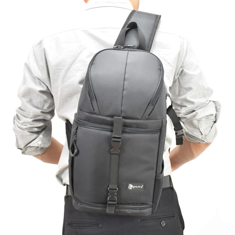 Фото Камера Слинг Сумка крест Digital Case Водонепроницаемый w/дождевик DSLR мягкий Для мужчин Для женщин сумка для Canon nikon sony SLR