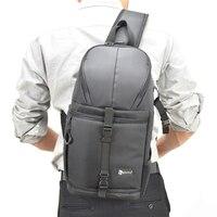 Photo Camera Sling Bag Shoulder Cross Digital Case Waterproof W Rain Cover DSLR Soft Men Women