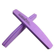 1de4d1cbc5e 100 180 Emery Nail File Buffer Double Side Diamond Sponge Down Polish Block  Buffer Prismatic Sponge Nail Files Cuticle