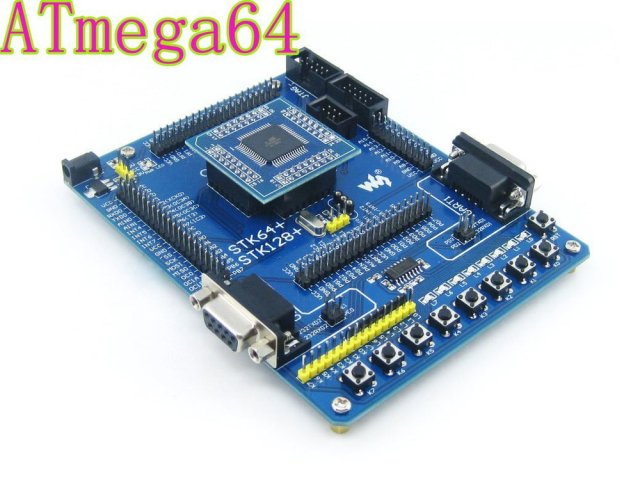 Atmel Atmega64 Board ATmega64A-AU ATmega64A AVR Development Board Starter Kit All I/Os from Waveshare