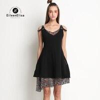 High Fashion Spring Summer Dresses 2017 Silk Dresses High Quality EE Sexy Slip Dress Black