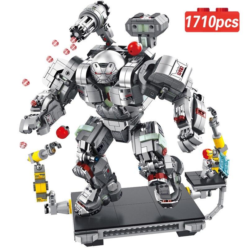 1710 pièces + guerre Machine Buster Legoing Marvel Ironman Avengers 4 Endgame Iron Man Super héros chiffres blocs de construction film jouets