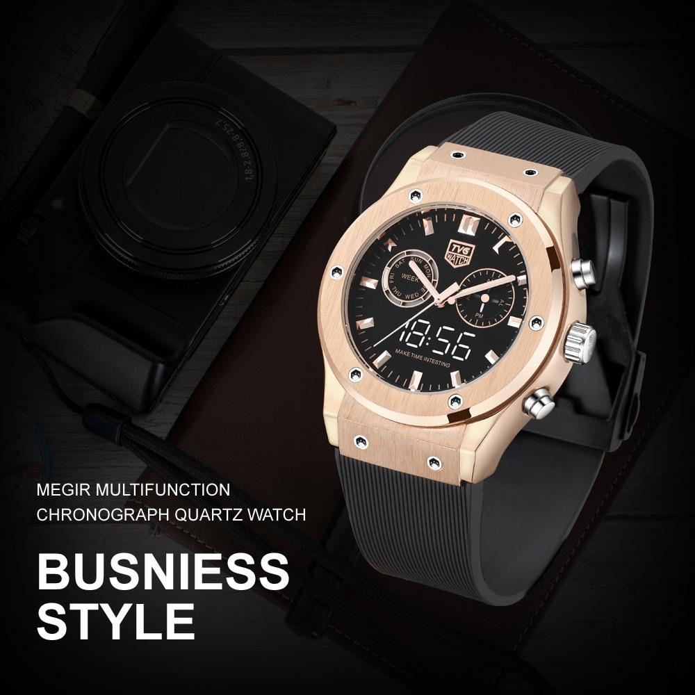 Relógio de luxo tvg impermeável relógio de