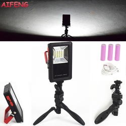 Aifeng 30w led portable spotlight 3 modes 18650 battery rechargeable led floodlight foldable stand emergency portable.jpg 250x250