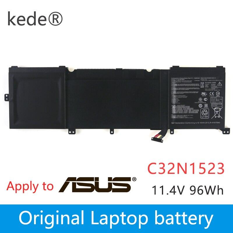 kede  11.4V 96Wh Original C32N1523 Laptop Battery For Asus Zenbook Pro UX501VW N501L Series C32N1523 Tabletkede  11.4V 96Wh Original C32N1523 Laptop Battery For Asus Zenbook Pro UX501VW N501L Series C32N1523 Tablet