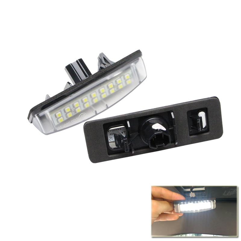 No Error White LED Number License Plate Lamp Light for Toyota Lexus IS300 Camry Aurion Prius Echo MITSUBISHI Colt plus Grandis