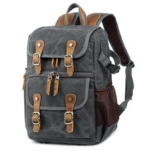 Image 5 - High Capacity Batik Canvas Fabric Photography Bag Outdoor Waterproof Camera Shoulders Backpack for Cannon/Nikon/Sony DSLR SLR