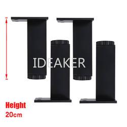 4 шт. 200x38 мм Алюминиевые ножки регулируемые по высоте черные прямоугольные ножки