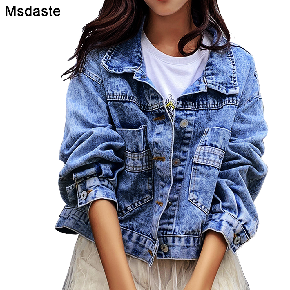 Jeans Jackets Coats Women 2019 Short Casual Denim Coat New Autumn Long Sleeve Jaqueta Feminina Chaquetas Mujer Jeans Jacket