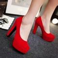 12 cm Tacones Altos Zapatos de Plataforma de Las Mujeres Zapatos de Novia Zapatos Rojos de La Boda Sy-2250