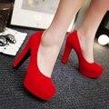 12 cm de Salto Alto Sapatos de Plataforma Das Mulheres Sapatos de Noiva Sapatos de Casamento Vermelho Sy-2250