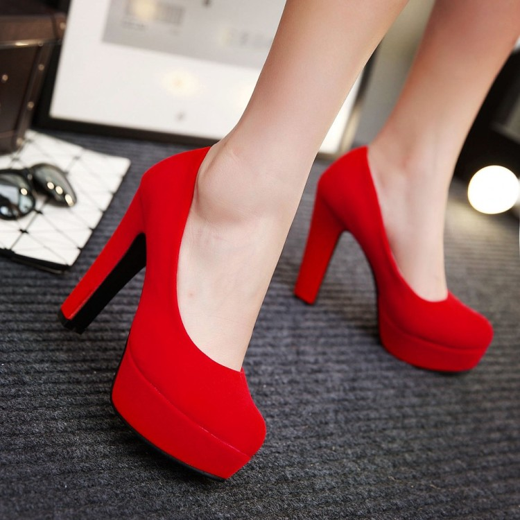 12cm High Heels Shoes Women Platform Bridal Shoes Red Wedding Shoes Sy-2250