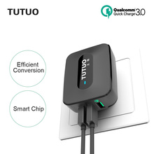 TUTUO [Qualcomm Quick Charge 3.0] 3 USB Wall Fast Charger QC-028P EU/US Plug Charging Station for Samsung Galaxy/Xiaomi/iPhone