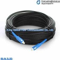 500M Outdoor FTTH Fiber Optic Drop Cable Patch Cord SC to SC Simplex SM SC SC 500 Meters Drop Cable Patch Cord
