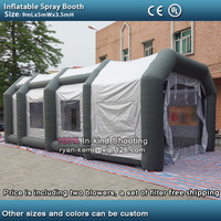 inflatable spray booth inflatable car paint tent portable outdoor inflatable spray paint cabine booth with filters two blowers