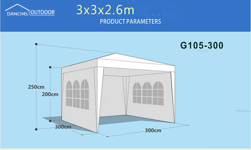 DANCHEL Four Side Walls White Party Tent Wedding Tent Canopy Outdoor Heavy  Duty Gazebo Pavilion Events Tent for Party