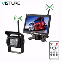 Wireless Truck Vehicle Backup Camera & 7 inch Monitor IR Night Vision Parking Assistance Waterproof Rear View Camera 2 in1 PS07