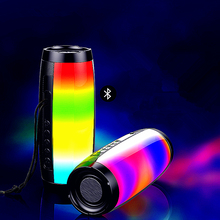 OUTMIX Portable LED Bluetooth Speaker Waterproof fm radio Wireless boombox Column subwoofer sound Box For mp3 USB phone Computer portable led bluetooth speaker waterproof fm radio wireless boombox mini column bass subwoofer mp3 usb computer tv sound bar box