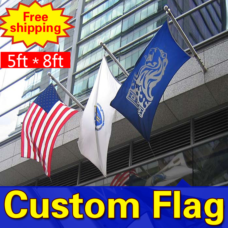 8ft * 5ft Freeshipping bendera kustom, Satu sisi bendera, Berbagai - Dekorasi rumah - Foto 2