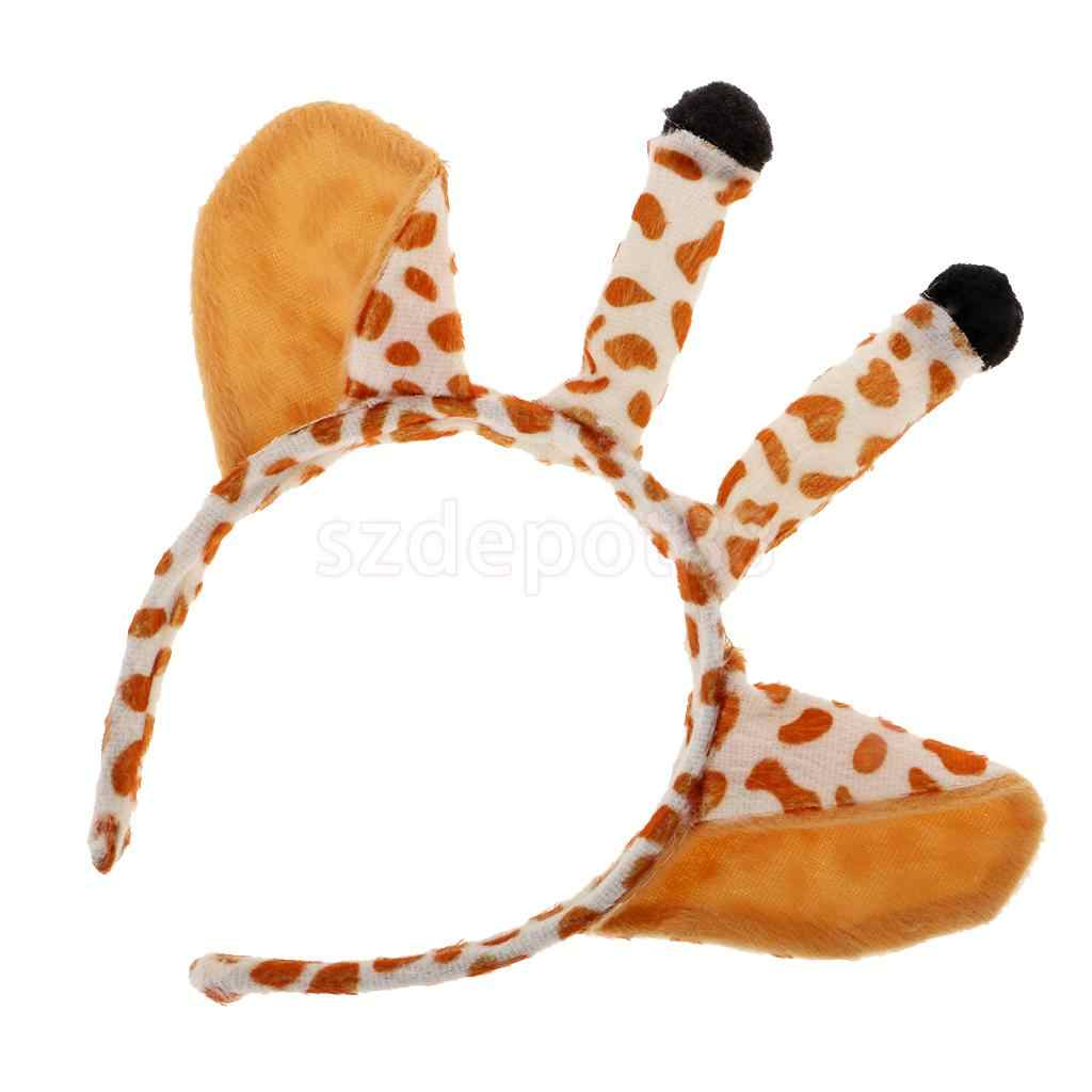 Child or Adult Fancy Dress Accessory New A Pair of Clip On Plush Leopard Ears