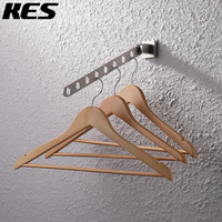KES Stainless Steel Clothes Hanger With Folding Swing Arm Closet Storage Organizer Heavy Duty Drying Rack