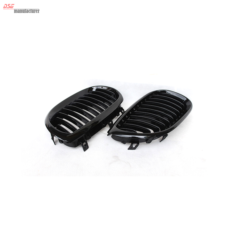 ФОТО 5 Series E60 Grill M Sport Bumper Grill Glossy Black Kidney ABS Plastic Front Grille for BMW 2004 - 2009 5 Series E60 E61 530i