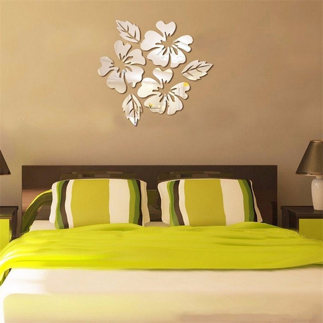 Flowers Style Art Sofa Bed Home Decoration Plastic 3D Sticker ...