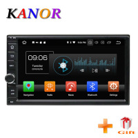 KANOR Android 8.0 Octa Core 7inch 4+32g Double 2 din Car Radio Bluetooth Stereo Sat Nav WIFI Multimedia SWC Map Headunit