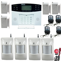 English Russian Spanish French Voice Prompt Wireless GSM Home Security Alarm System With Metal Remote